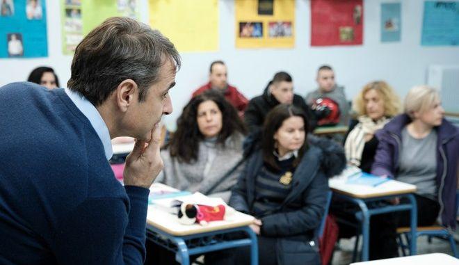 Επίσκεψη του Προέδρου της ΝΔ Κυριάκου Μητσοτάκη στο εσπερινό ΓΕΛ Αιγάλεω