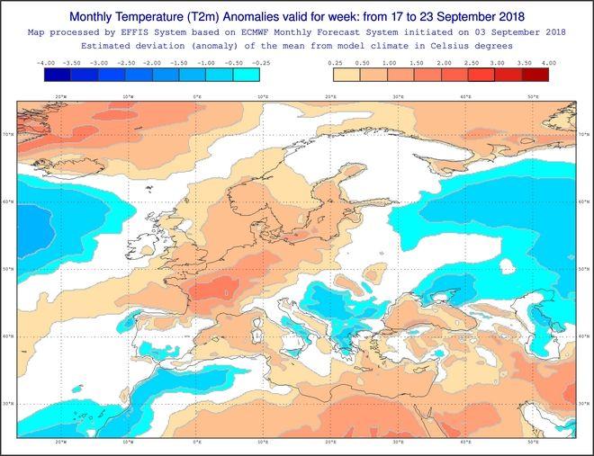 Πώς θα κυλήσει ο καιρός τον Σεπτέμβριο - Τι λένε οι μεσοπρόθεσμες προγνώσεις