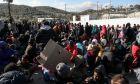 Επεισόδια στον προσφυγικό καταυλισμό στη Μόρια μετά αιματηρό επεισόδιο με θύμα έναν 20χρονο από την Υεμένη, την Παρασκευή 17 Ιανουαρίου 2020.