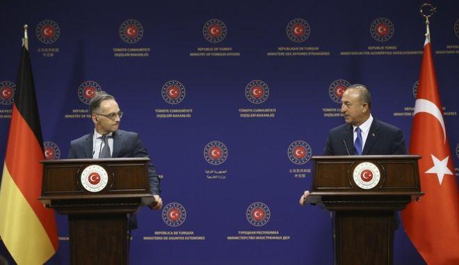 Οι υπουργοί Εξωτερικών Γερμανίας-Τουρκίας