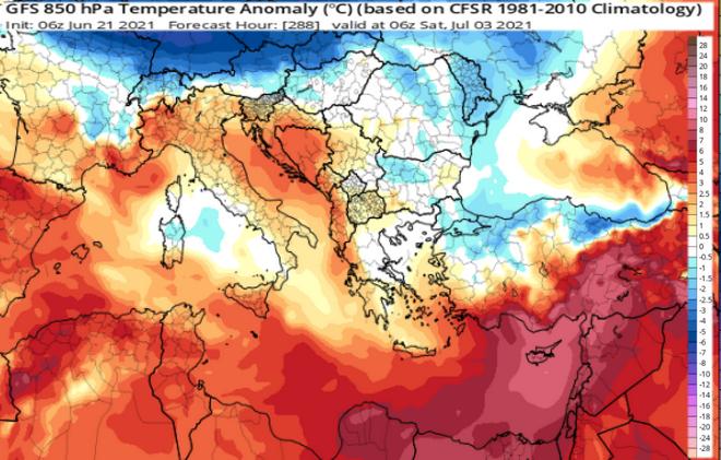 Καύσωνας ξανά από Τετάρτη μαζί με αφρικανική σκόνη