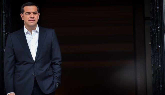 Ο Πρωθυπουργός Αλέξης Τσίπρας στο Μαξίμου