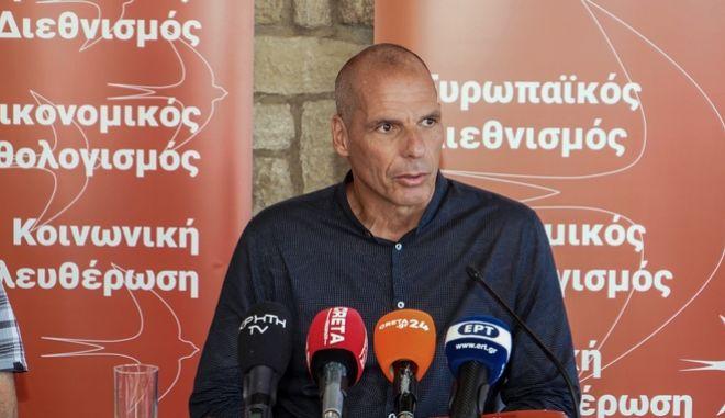 Επίσκεψη του Γραμματέα του ΜέΡΑ25 Γιάνη Βαρουφάκη στο Ηράκλειο Κρήτης την Δευτέρα 20 Ιουλίου 2020.