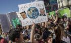 Μαθητική κινητοποίηση για την κλιματική αλλαγή στη Μαδρίτη