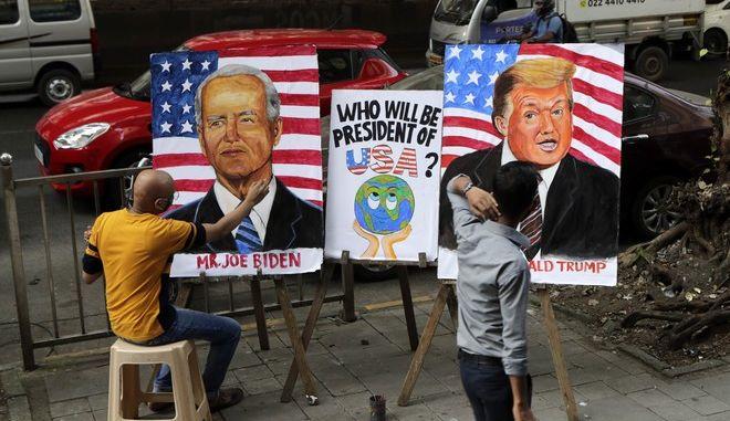 Ντόναλντ Τραμπ και Τζο Μπάιντεν σε...πορτρέτα
