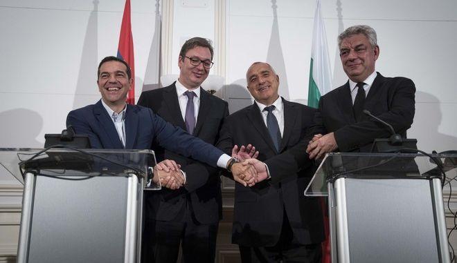 Στην τετραμερή σύνοδο κορυφής ο Πρωθυπουργός Αλέξης Τσίπρας στην Βάρνα. Τετάρτη 4 Οκτωβρίου 2017. (EUROKINISSI/ΓΡ.ΤΥΠΟΥ ΠΡΩΘΥΠΟΥΡΓΟΥ/ANDREA BONETTI)