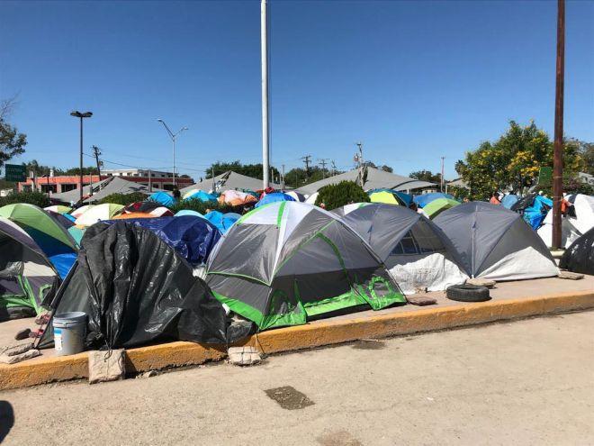 Ο καταυλισμός στο Ματαμόρος που φιλοξενεί περίπου 1.500 ανθρώπους