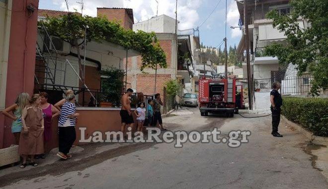 Λαμία: Φωτιά σε διαμέρισμα από διαρροή υγραερίου