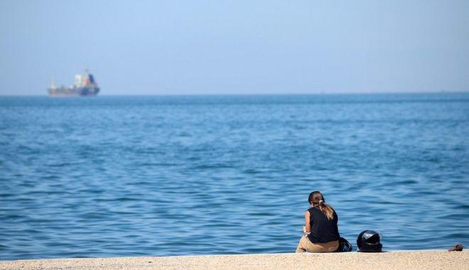 Στιγμιότυπο από την παραλία Θεσσαλονίκης