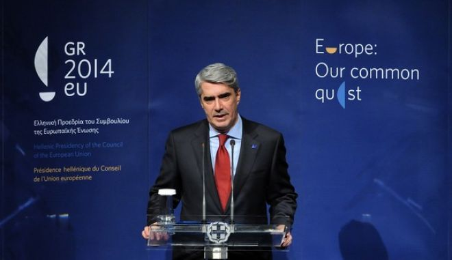 Ο κυβερνητικός εκπρόσωπος Σϊμος Κεδίκογλου, στην επίσημη τελετή έναρξης της ελληνικής προεδρίας στην Ευρωπαϊκή Ένωση στο Μέγαρο Μουσικής, την Τετάρτη 8 Ιανουαρίου 2014. (EUROKINISSI/ΓΕΩΡΓΙΑ ΠΑΝΑΓΟΠΟΥΛΟΥ)