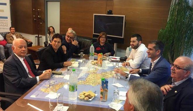 Συνάντηση Κ. Μπακογιάννη - Δ. Παπαδημητρίουγια τα εν εξελίξει έργα στη Στερεά Ελλάδα