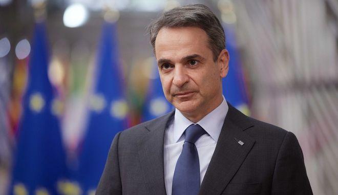 Ο πρωθυπουργός Κυριάκος Μητσοτάκης στις Βρυξέλλες