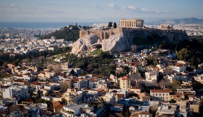 Αθήνα - Η περιοχή της Πλάκας από ψηλά