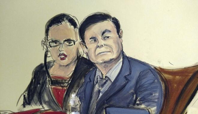 Ο Ελ Τσάπο στην αίθουσα του δικαστηρίου