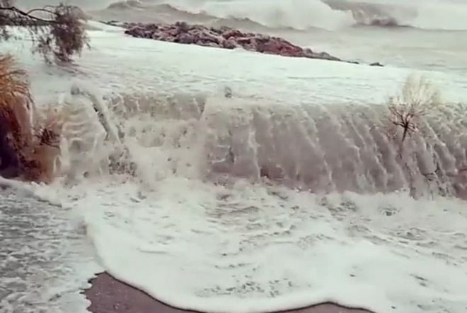 Έντονα πλημμυρικά φαινόμενα στον νομό Μεσσηνίας λόγω του κυκλώνα Ζορμπά