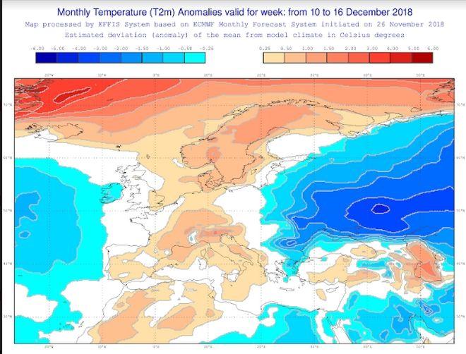 Καιρός: Πώς θα είναι οι καιρικές συνθήκες μέχρι τα Χριστούγεννα