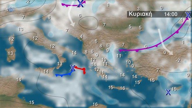 Καιρός: Τοπικές βροχές την Κυριακή - Πού θα είναι πιο έντονα τα φαινόμενα
