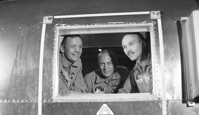 Τα τρία μέλη της ιστορικής αποστολής