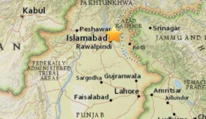 Σεισμός 5,1 Ρίχτερ πολύ κοντά στην πρωτεύουσα του Πακιστάν