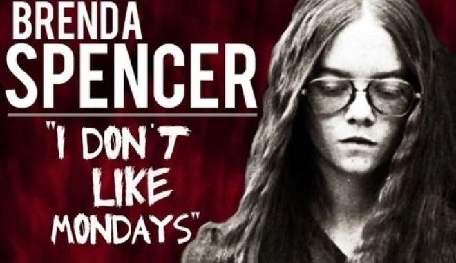 Μηχανή του χρόνου: I don't like Mondays. Το τραγούδι για τη 16χρονη Μπρέντα που αιματοκύλησε ένα σχολείο επειδή δεν της άρεσαν οι Δευτέρες