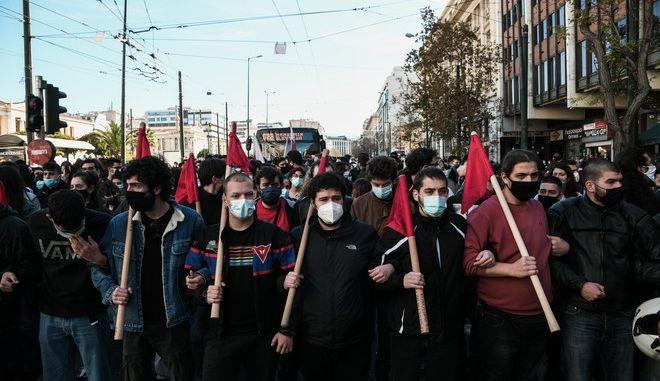 Πανεκπαιδευτικό συλλαλητήριο ενάντια στο νέο νομοσχέδιο για την τριτοβάθμια εκπαίδευση στην Αθήνα