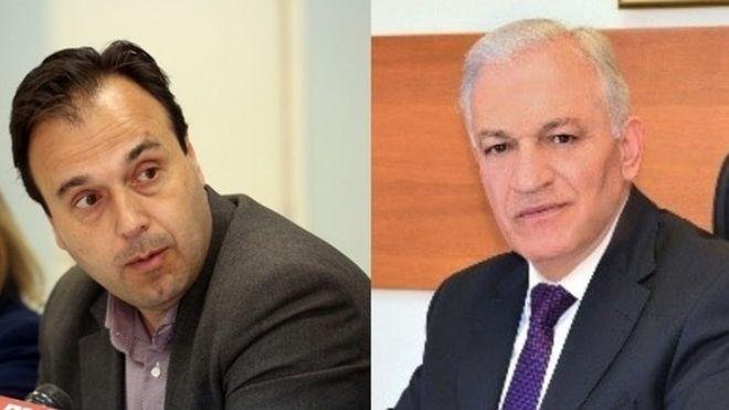 Δημήτρης Παπαστεργίου, δήμαρχος Τρικκαίων και Λάζαρος Κυρίζογλου, δήμαρχος Αμπελοκήπων-Μενεμένης