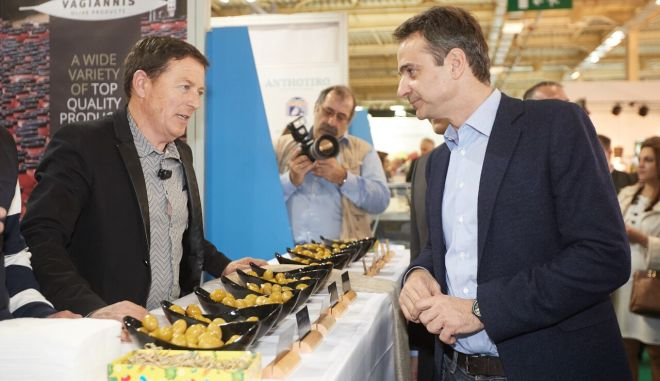 Ο Πρόεδρος της Νέας Δημοκρατίας Κυριάκος Μητσοτάκης επισκέφθηκε σήμερα, Σάββατο 18 Μαρτίου, την Διεθνή Έκθεση Τροφίμων και Ποτών «Food Expo 2017».