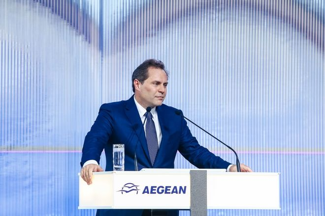 O Πρόεδρος της Aegean Ευτύχιος Βασιλάκης