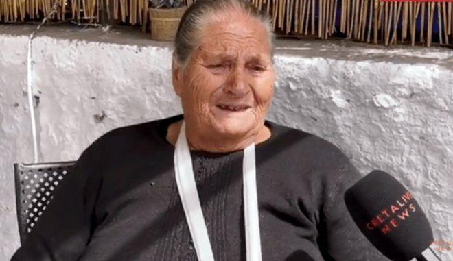 """Σεισμός στην Κρήτη: Τα δάκρυα και η απόγνωση ηλικιωμένης γυναίκας - """"Κάντε κάτι σας παρακαλώ"""""""
