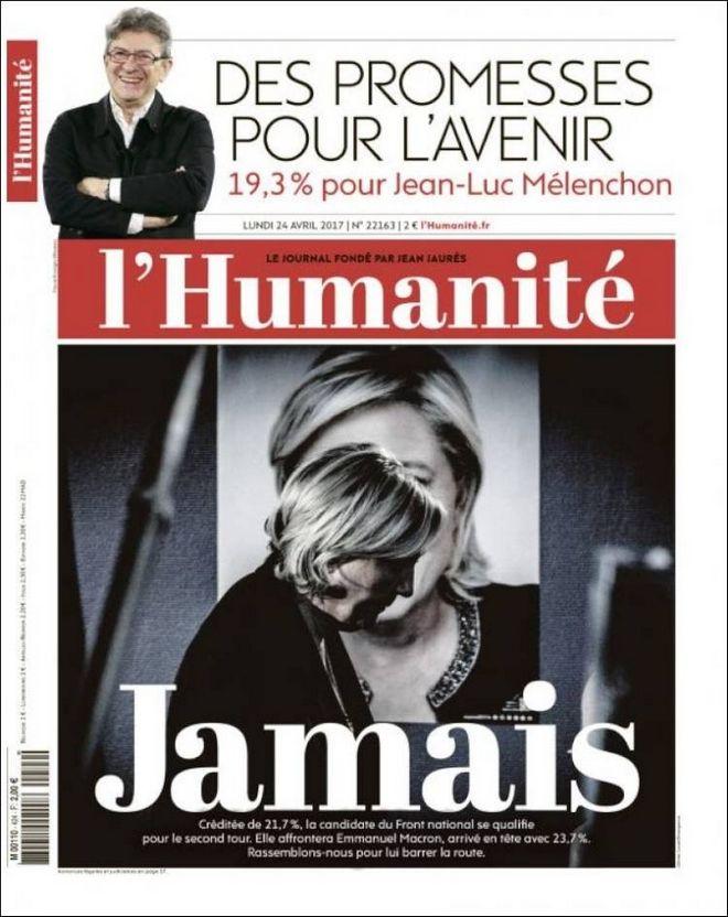 'Ποτέ Λεπέν' λέει ο γαλλικός Τύπος