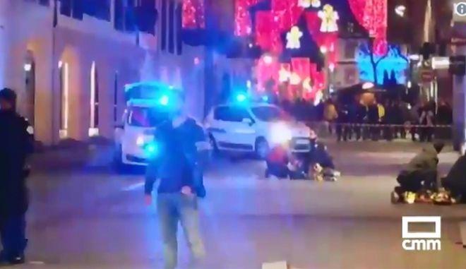Στιγμιότυπο από το Στρασβούργο μετά την επίθεση ενόπλου