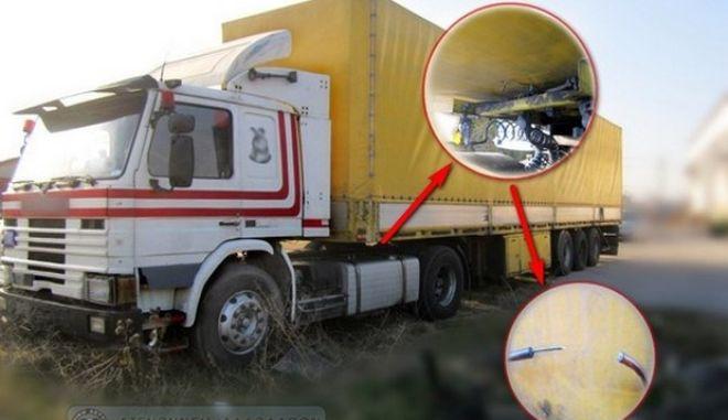 Λαθροδιακινητής μετέφερε 15 μετανάστες μέσα σε νταλίκα