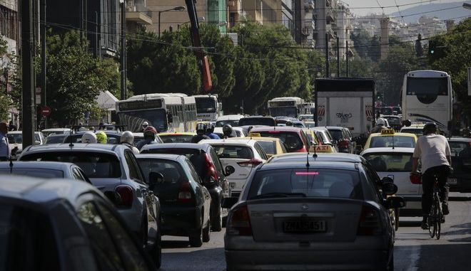 Κίνηση σε δρόμο της Αθήνας