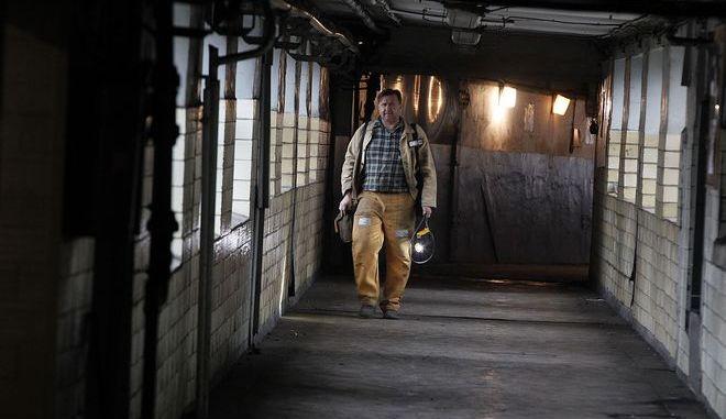 Ανθρακωρύχος φεύγει από ορυχείο, Φωτογραφία Αρχείου