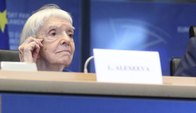 Η Ρωσίδα ακτιβίστρια ανθρωπίνων δικαιωμάτων Λιουντμίλα Αλεξέεβα