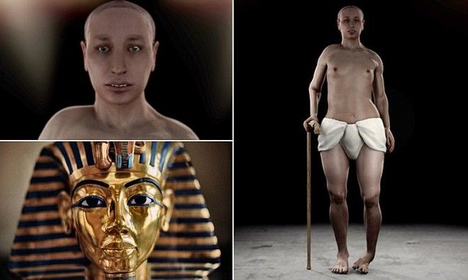 King Tut - Scientists produce detailed images showing King Tutankhamun had a club foot and a hangover on his teeth,