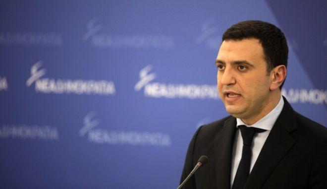Έκτακτη συνέντευξη Τύπου, του εκπροσώπου Τύπου της Νέας Δημοκρατίας, Βασίλη Κικίλια, την Δευτέρα 6 Φεβρουαρίου 2017, στα κεντρικά γραφεία του Κόμματος. (EUROKINISSI/ΓΙΩΡΓΟΣ ΚΟΝΤΑΡΙΝΗΣ)