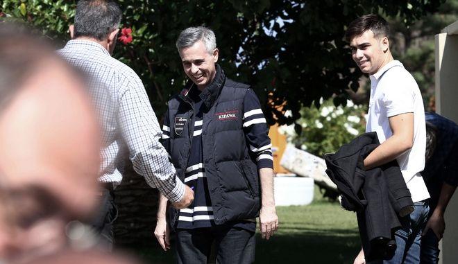 """Ο Μιχάλης Λεμπιδάκης στο εργοστάσιό του """"Πλαστικά Κρήτης"""" στη βιομηχανική περιοχή του ΗρακλείουΟ επιχειρηματίας απελευθερώθηκε από τους απαγωγείς του σε επιχείρηση της ΕΛ.ΑΣ. έπειτα από έξι μήνες ομηρείας"""
