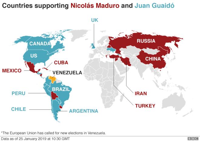 Βενεζουέλα: Ο πολιτικός διχασμός χωρίζει τον πλανήτη στα δύο