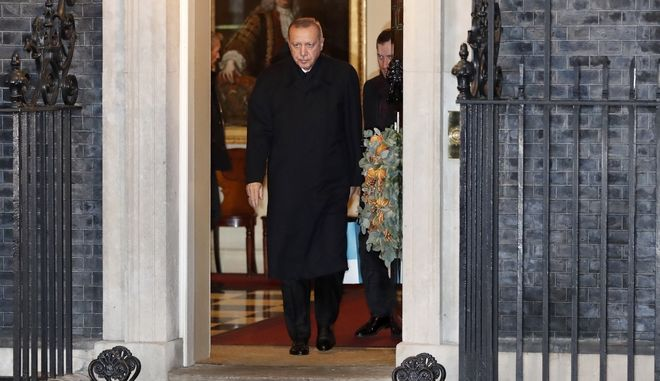 O Τούρκος Πρόεδρος στην Downing Street.