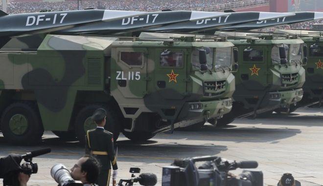 Στη δεύτερη θέση της παγκόσμιας κατάταξης των στρατιωτικών δαπανών η Κίνα