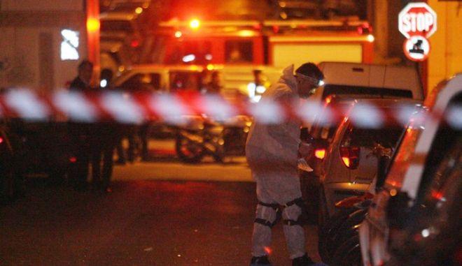 ΑΘΗΝΑ-Ισχυρή έκρηξη στο Παγκράτι σημειώθηκε σε γραφείο  εταιρείας courier που βρίσκεται στη συμβολή των οδών Αστυδάμαντος και Ευφρονίου.(EUROKINISSI-ΤΑΤΙΑΝΑ ΜΠΟΛΑΡΗ)
