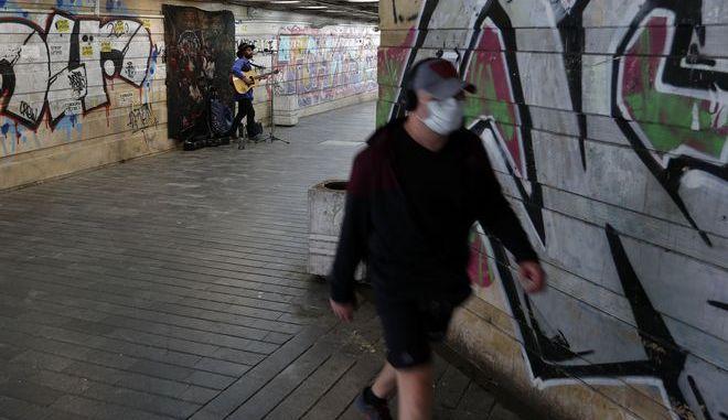 Υπόγεια διάβαση στο Βελιγράδι σε καιρό κορονοϊού