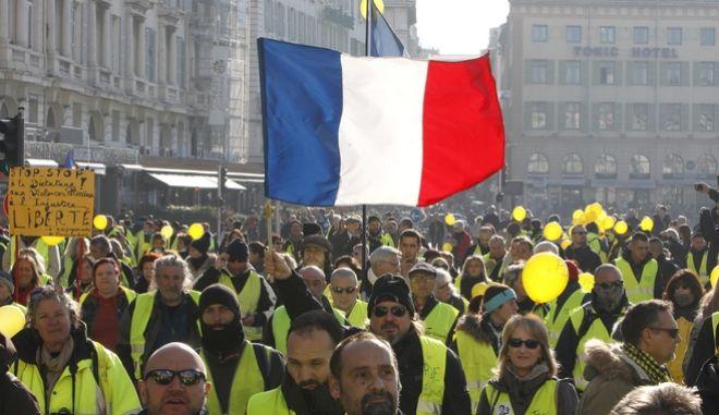 Διαδηλωτές με Κίτρινα Γιλέκα στη Μασσαλία