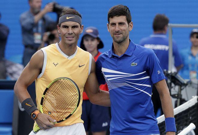 Ο Rafael Nadal και ο Novak Djokovic