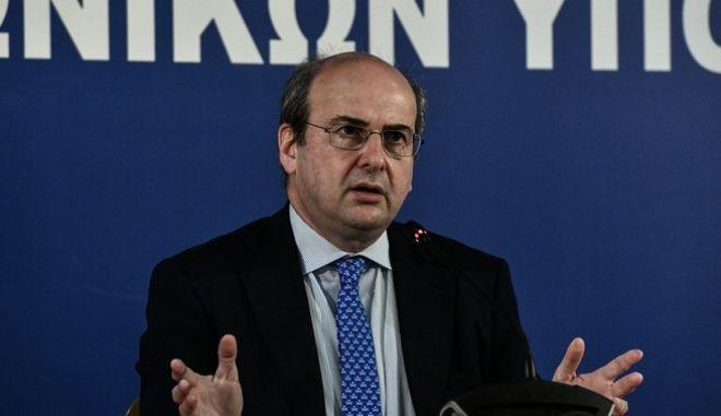 Ο υπουργός Εργασίας & Κοινωνικών Ασφαλίσεων Κωστής Χατζηδάκης.