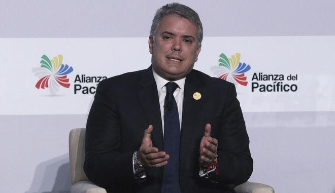 Ο πρόεδρος της Κολομβίας Ιβάν Ντούκε