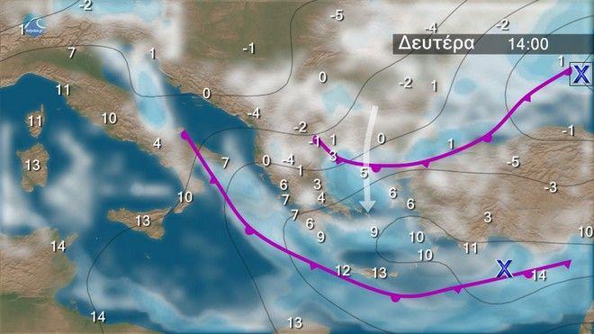 Ο καιρός στα Βαλκάνια την Δευτέρα
