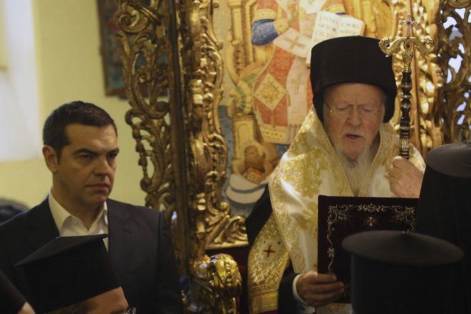 Επίσκεψη του Πρωθυπουργού Αλέξη στη Θεολογική Σχολή Χάλκης με τον Οικουμενικό Πατριάρχη Βαρθολομαίο