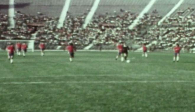 Στιγμιότυπο από τον αγώνα.